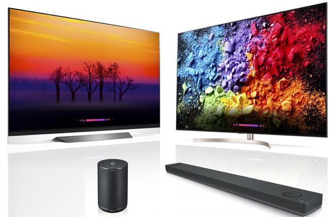 TV Oled 65E8, Super UHD 65SK9500 và hai loa của LG được vinh danh.