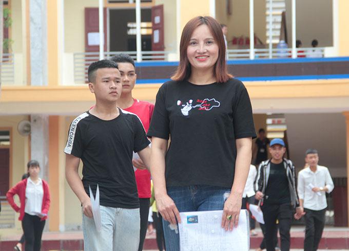 Chị Nguyễn Thị Minh thời điểm đi thi THPT quốc gia. Ảnh: Hùng Lê