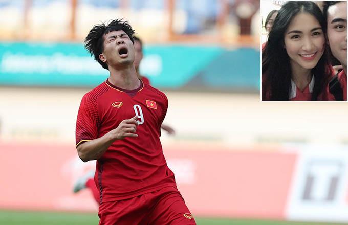 Hoà Minzy hai lần chứng kiến Công Phượng đá hỏng penalty khi đến sân cổ vũ Olympic Việt Nam.