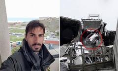 Cầu thủ Italy thoát chết sau cú rơi 50 m từ cây cầu sập