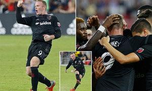 Rooney thăng hoa ở Mỹ với cú đúp bàn thắng