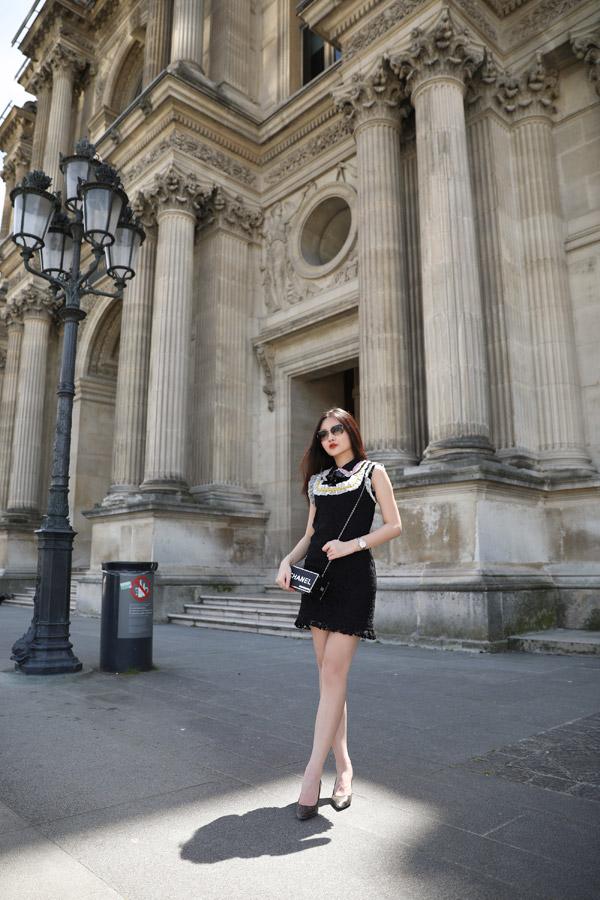 Lê Âu Ngân Anh diện toàn đồ hiệu khi dạo chơi ở Paris - 11