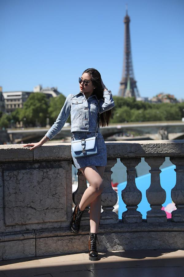 Lê Âu Ngân Anh diện toàn đồ hiệu khi dạo chơi ở Paris - 4