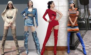 Sao Việt chọn bốt 'khủng' làm điểm nhấn phong cách
