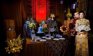 Hôn lễ 'độc nhất vô nhị' với chủ đề cỏ bốn lá của cặp người Việt gốc Hoa