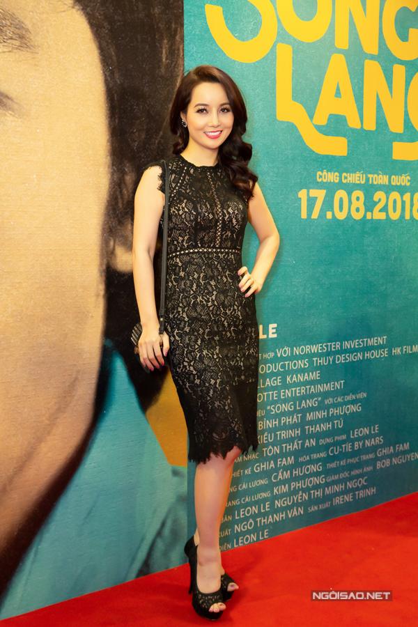 Diễn viên Mai Thu Huyền hào hứng đến thưởng thức phim mới do Ngô Thanh Vân sản xuất.