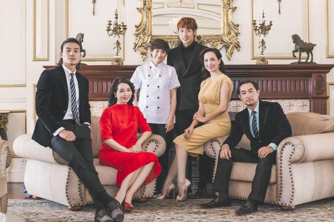 Phim có sự tham gia của Hiếu Nguyễn, Mai Thu Huyền, Yaya Trương Nhi, Tuấn Trần, Thúy Hạnh, Khương Thịnh (từ phải sang).