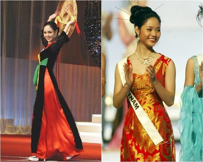 Những hình ảnh hiếm hoi của Hoa hậu Mai Phương khi dự thi Miss World 2002.