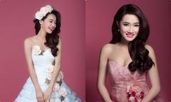 Những lần Nhã Phương mặc váy cô dâu trước khi cưới Trường Giang