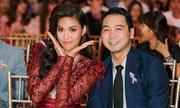 Hôn phu thiếu gia tháp tùng Lan Khuê đi nhận giải 'Người đẹp của năm'