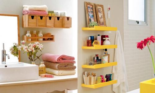 Tăng diện tích chứa đồ trong phòng tắm bằng hai mẹo nhỏ