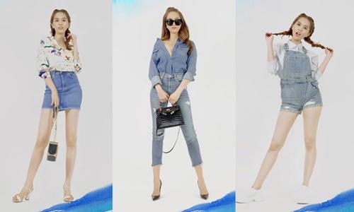 Ngọc Trinh gợi ý 9 cách mix đồ jeans trẻ trung