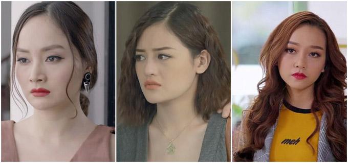 Lan Phương, Thùy Anh và Băng Di  bộ ba ác nữ bị ghét nhất màn ảnh Việt năm nay.