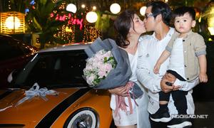Ngọc Lan bất ngờ được ông xã tặng xe tiền tỷ trong sinh nhật