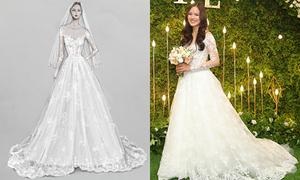 Nhà thiết kế Lê Thanh Hòa mất hơn một tháng để làm váy cưới cho Tuyết Lan