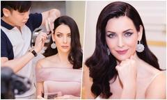 Hoa hậu Hoàn vũ Natalie Glebova được chuyên gia trang điểm Việt 'phù phép'