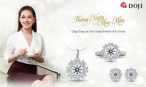 DOJI giới thiệu trang sức kim cương mang ý nghĩa may mắn trong tháng Ngâu