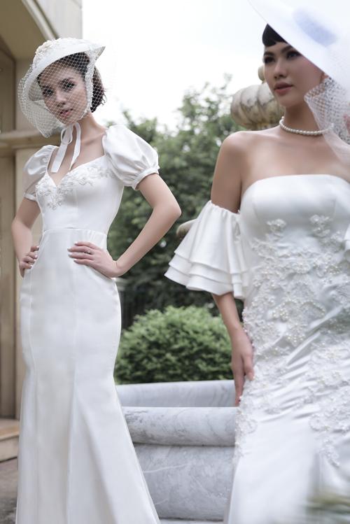 Váy cưới mang nét cổ điển, lãng mạn cho cô dâu thích sự tối giản - 2