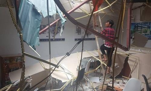 Giàn cẩu công trình 36 tầng đổ sập ở Hà Nội, hai người bị thương