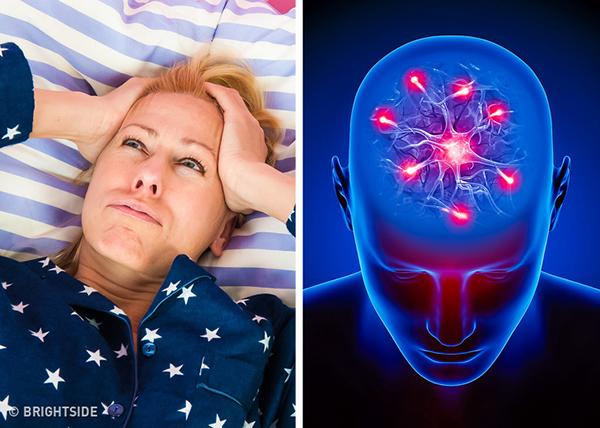 Mất ngủ Nếu gặp phải tình trạng khó ngủ, thao thức suốt đêm, hay tỉnh giấc giữa đêm suốt một thời gian dài thì độc tố đang tàn phá tới hệ tuần hoàn của bạn nên gây ra tình trạng mất ngủ và khó thở.