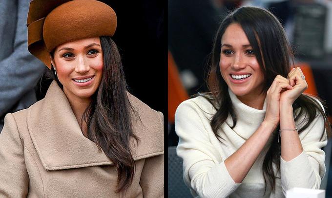 Ưu tiên váy áo có màu sắc hợp tone daKate Middleton thường xuất hiện cùng xiêm y xanh da trời, trong khi Meghan Markle chuộng các gam trung tính như camel, trắng ngà, nâu nhạt...