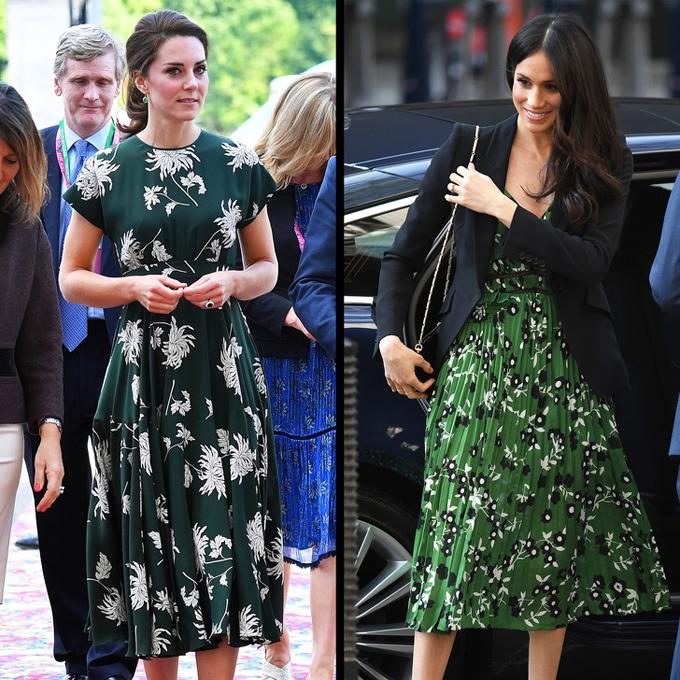 Họa tiết hoaNếu thích phong cách yểu điệu, các nàng có thể diện váy midi bay bổng in những bông hoa nhỏ xinh như hai nữ công tước.