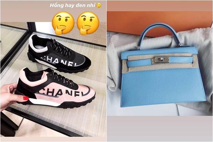 Chia sẻ với Ngoisao.net, Ngọc Trinh cho biết cômua sắm thỏa thích vì mỗi năm chỉ có một ngày sinh nhật. Hiện cô đặt hàng thêm một đôi giày Chanel giá 18 triệu đồng, chiếc túi Kelly của Hermes giá 285 triệu đồng.