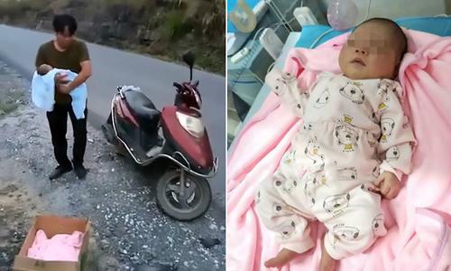 Bé gái hai tuần tuổi bị vứt trong thùng các tông bên vệ đường