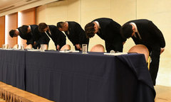 4 tuyển thủ Nhật mua dâm ở Jakarta cúi đầu xin lỗi