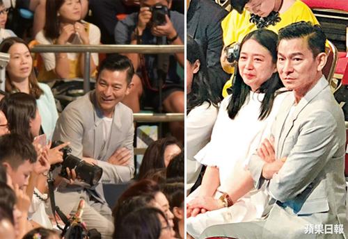 Trước đó, hồi đầu tháng 8, khi dự lễ tốt nghiệp mẫu giáo của con gái, bà xã Lưu Đức Hoa đã để lộ vòng một lớn.