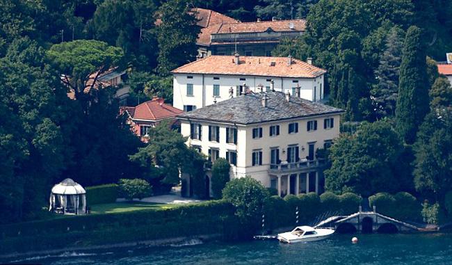 Toàn cảnh biệt thự của vợ chồng Clooney ven hồ Como, Italy. Ảnh: Mega.
