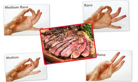 Quy tắc bàn tay kiểm tra độ chín thịt bò vừa nhanh vừa dễ