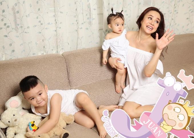 Vy Oanh yêu cuộc sống bận rộn nhưng hạnh phúc của một mẹ bỉm sữa.