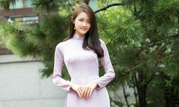 Top 15 Miss Supranational Vietnam tung bộ ảnh áo dài chụp ở Hàn Quốc