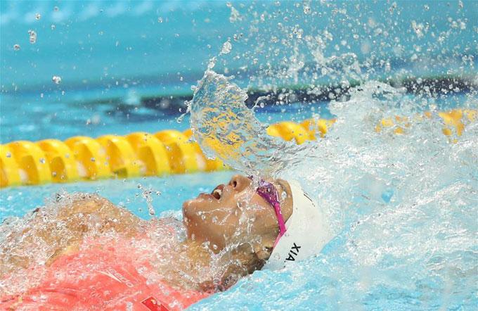 Lưu cũng trở thành nữ VĐV đầu tiên cán đích ở nội dung 50m ngửa với thành tích dưới 27 giây. Lưu Sương không phải hy vọng lớn nhất của đội bơi Trung Quốc ở nội dung 50m ngửa. Tuy nhiên, VĐV gốc Quảng Đông đã đánh bại đồng đội Phó Viên Tuệ ở nội dung mà Phó đã đoạt HC vàng tại Asiad 2014. Viên Tuệ cũng là chủ nhân của tấm HC vàng ở đường bơi 100m ngửa.