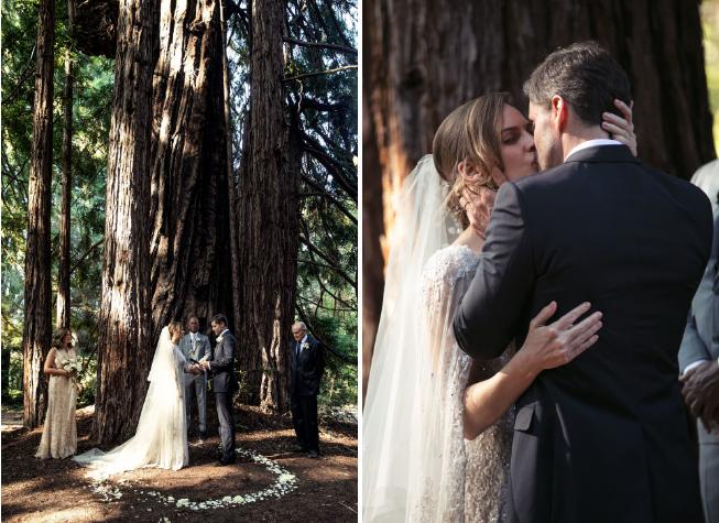 Cô dâu và chú rể trao nhau dưới gốc cây cổ thụ gần 800 trăm tuổi.