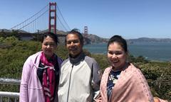 MC Xuân Hiếu đưa bố mẹ đi du lịch Mỹ