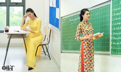 Áo dài H&T cùng cô giáo khai trường