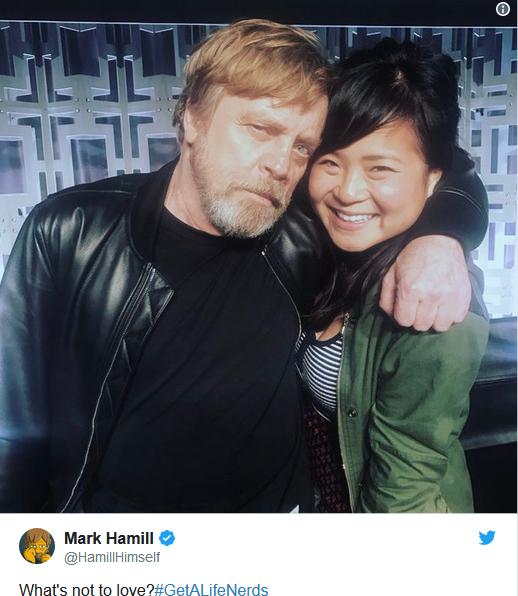 Mark Hamill đã lên tiếng ủng hộ Kelly Marie Trần từ tháng 6.