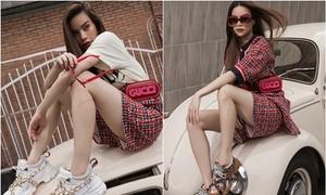 Hồ Ngọc Hà phối đồ với loạt giày sneaker 'thô kệch'