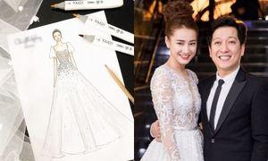 Phác thảo váy cưới của Nhã Phương chính thức lộ diện