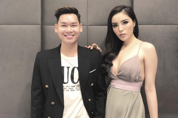 Hữu Phú và Hoa hậu Kỳ Duyên trong một chuyến công tác tại Singapore mới đây.