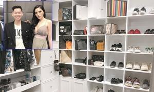 Căn phòng chứa hàng hiệu của quản lý Hoa hậu Kỳ Duyên