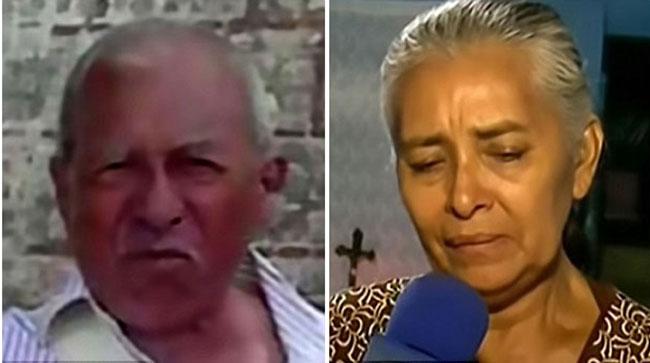 Nạn nhân thiệt mạng là cụ ông Luis Eduardo Cervantes Marquez, 62 tuổi (trái). Ông qua đời vì bảo vệ vợ mình, bà Edith Torres (phải). Ảnh: CEN.