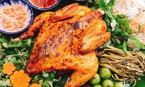 Ngày chủ nhật, làm món gà nướng ngũ vị hương cho cả nhà