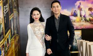 Quỳnh Chi mặc váy xuyên thấu đi sự kiện cùng Hứa Vĩ Văn