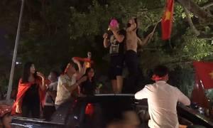 Muôn kiểu ăn mừng sau chiến thắng của Olympic Việt Nam