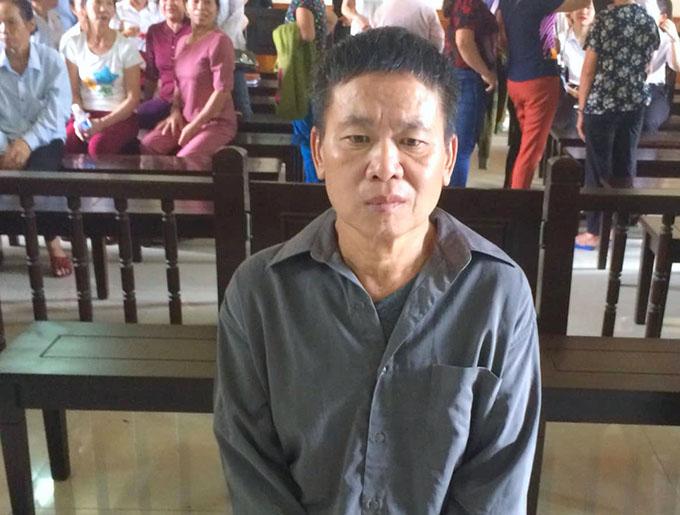 Bị cáo Lộc tại phiên tòa sáng nay. Ảnh: Hùng Lê