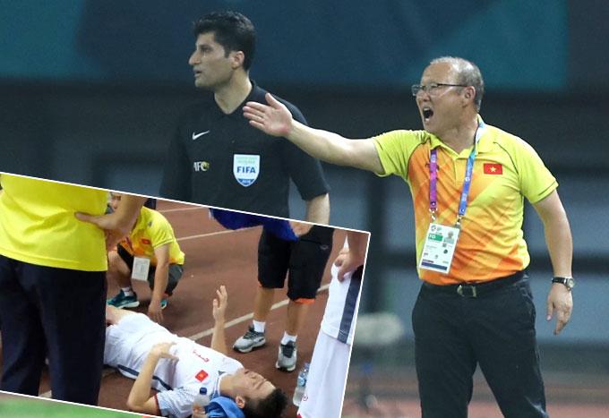 HLV Park Hang-seo chia sẻ về tình trạng của Duy Mạnh. Ảnh: Đức Đồng.
