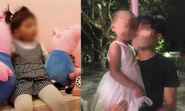 Bé gái trước và sau khi bị người phụ nữ bắt cóc. Ảnh: Sina.